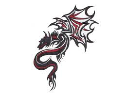 Dragon Sword Chinese Knife Long Outline Tattoo Designs Photo