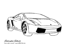 Cars Coloring Page Lamborghini Gallardo