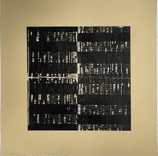 100 Ochre Home Linocut Art Print MinimalistBlack Tan Yellow Ochre Home Decor Shoji 3 Linocut 15 X 15 Unframed