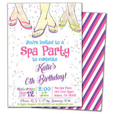 Best Spa Party Invitation Products On Wanelo