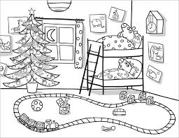Peppa Pig Coloring Pages Christmas Eve