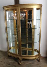 Curved Glass Curio Cabinet Antique by Oval Curved Glass Curio Cabinet C 1900 From Dixonsantiques On