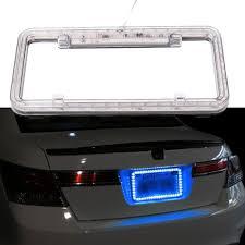 1X Universal Car Truck 12v Blue LED Lighting Plastic License Plate ...