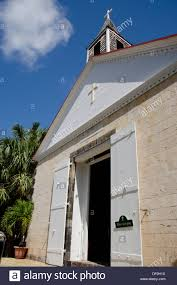 French West Indies Caribbean Island Of Saint Barthelemy St Barts Capital City Gustavia Bartholomews Church
