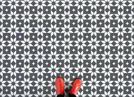 Patterned Vinyl Flooring Tile Vinyl Flooring Geometric Patterned