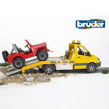 100 Bruder Tow Truck Toys Plastic Toy Mercedes Benz Sprinter With Cross