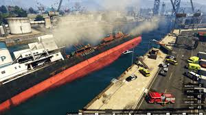 sinking ship simulator titanic 2 sinking ship at the docks gta5 mods