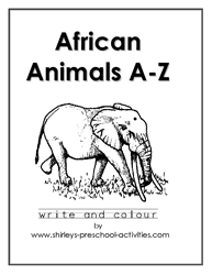 Free Printable African Animals Alphabet Coloring Book