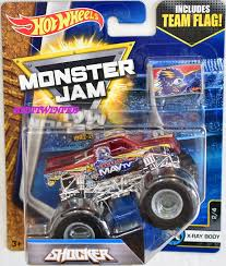 100 Team Hot Wheels Monster Truck HOT WHEELS 2017 MONSTER JAM INCLUDES TEAM FLAG SHOCKER XRAY BODY 2