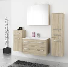 top badmöbel badezimmer 5tlg set in sonoma eiche mit 80 cm waschtisch