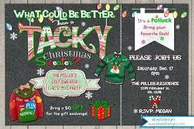 Free Printable Tacky Sweater Party Invitations Ugly Invitation