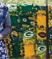 Green Bay Packers Pumpkin Stencil Printable by No Sew Tie Patch Blanket Joann