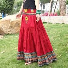 heart pounding effects long skirts women acetshirt