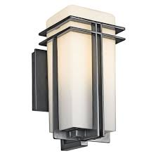 kichler lighting 49200bk tremillo 12 inch light outdoor wall
