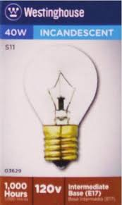 40 watt s11 incandescent light bulb 2700k clear e17 intermediate