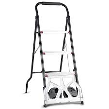 100 Two Wheel Hand Truck Costway 2in1 Convertible 3Step Ladder With