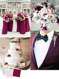 Frost Blush And Boysenberry Fall Wedding Color Idea