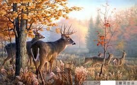 3D Wallpaper Custom 3d Wall Murals Mural Milu Deer Forest Landscape Painting Background