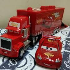Obral Disney Pixar Cars 2 Toys 2pcs Lightning McQueen Mack Truck The ...