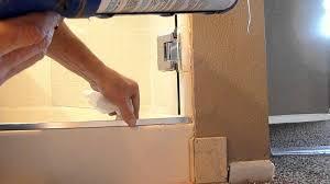 Bathtub Corner Water Stopper by Frameless Shower Door Leaks Youtube