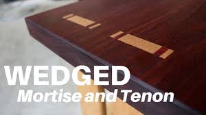 how to make a wedged through mortise and tenon woodworking youtube