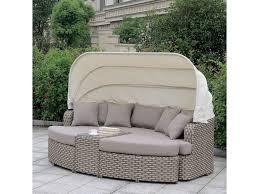 100 Retractable Patio Chairs Furniture Of America Riya CMOS2135 Outdoor Gray Modular Daybed Sofa