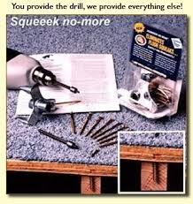 Fix Squeaky Floors Under Carpet by Squeeek No More Floor Repair Kit The Fix For Squeaky Carpeted Floors