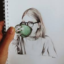 Art Coffee Color Draw Drawing Girl Glasses Hair