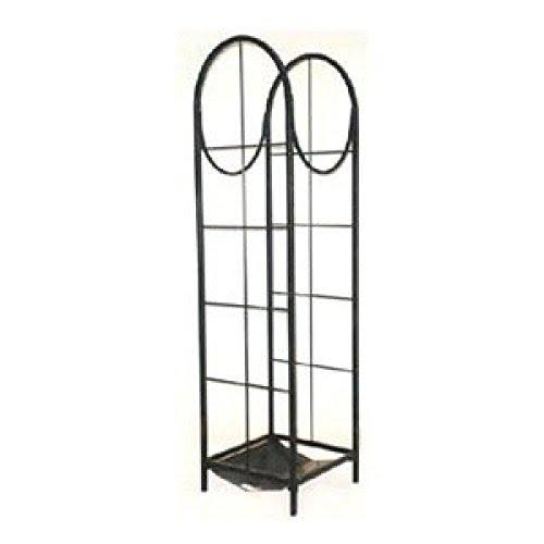 "Panacea Products Corp 15232 Vertical Log Storage Rack - Black, 48"" x 14"""