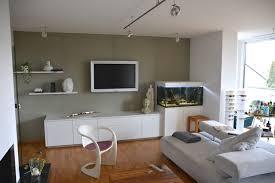 wohnwand mit aquarium modern wohnzimmer nürnberg