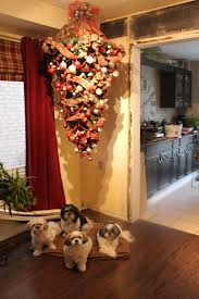 The Perfect Solution If You Have Animals Or Small Kids Hanging Upside Down Christmas Tree Love This