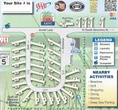 Geronimo RV Resort Park Map