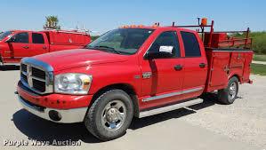 2009 Dodge Ram 2500 Quad Cab Utility Bed Pickup Truck   Item...