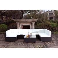 canape de jardin pas cher mobilier jardin resine tressee blanc achat mobilier jardin resine