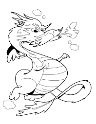 Free Printable Dragon Coloring Pages For Kids At Fire Breathing Page