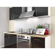 acheter cuisine complete loft cuisine complète 1m80 laqué noir haute brillance achat