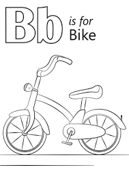 Click To See Printable Version Of Letter B Is For Bike Coloring Page