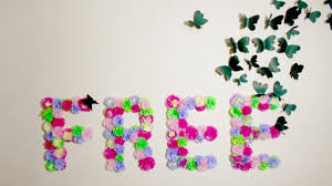 DIY Paper Flowers Monogram And Butterflies Wall Art