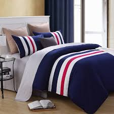 Awesome Red White And Blue Full Bedding Set For Boys Bedroom with
