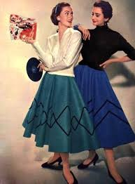 1955 I Once Made A Skirt Like This To Wear 50s Dance Except 1950s Skirt1950s FashionVintage