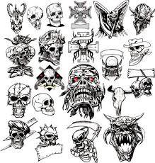 Skull Tattoo Vector 115524
