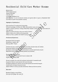 Free Sample Child Care Worker Resume Daily Examples Of Childcare Resumes