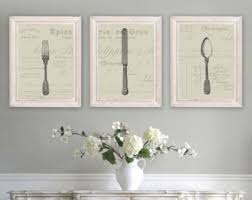 French Country Decor Farmhouse Wall Dining Room Art Silverware Cutlery NS 180