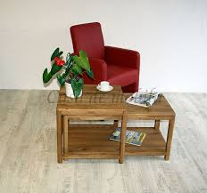 couchtisch set 90x50x55cm harz 2teilig wildeiche massiv natur geölt casade mobila
