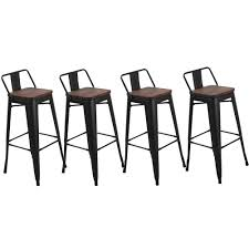 """Amazon.com: Muju 30"""" Low Back Metal Bar Stools With Wooden ... Why We Dont Sell Suar Wood Ding Room Chair Wooden Chairs Buy Chair Remarkable Oak Bar Stools With Backs Premium Padded Rumba Side Chair 400 15 Inexpensive That Look Cheap Amazoncom Muju 30 Low Back Metal With Kitchen Arms High Living Fniture Muji Wikipedia Outstanding Counter Height 21 Comfortable Modern For Viewing Nerihu 750 Solo Product"""