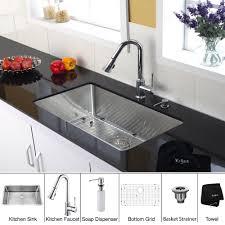 Kraus Kitchen Faucets Canada by Kraus Khu100 30 Kpf1650 Ksd30ch 30 Inch Undermount Single Bowl