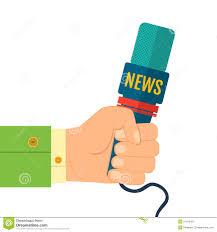 Microphone Newspaper Reporter Pencil And In Color Media Clipart Journalist Interview