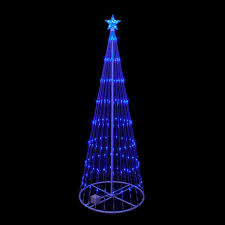 11083 Zoom 1464273884 9 FT Blue LED Christmas Tree Light Show Motion