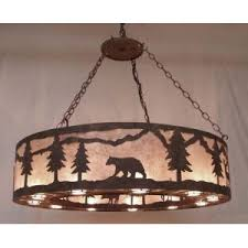 Bear And Forest Custom Chandelier