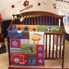 Modern Crib Bedding Sets baby nursery decor blue red baby sports nursery boy theme classic